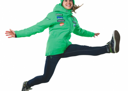 Women Ski Jumpers are jumping from Joy